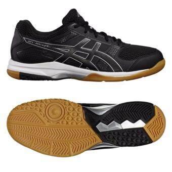 2561 ASICS Indoor Court Men s รองเท้าแบตมินตัน,วอลเล่ย์บอล ผู้ชาย GEL-ROCKET 8 (B706Y-9090)