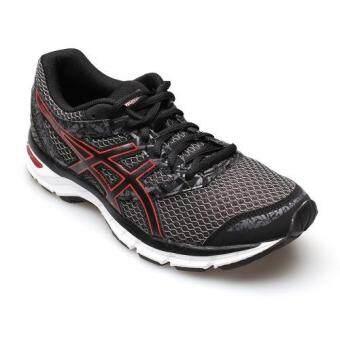 ASICS MEN รองเท้าผ้าใบ ผู้ชาย รุ่น GEL EXCITE 4 - T6E3N9023 (BLACK/TRUE RED/CARBON)