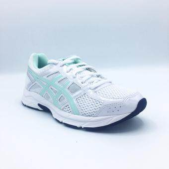 ASICS WOMEN รองเท้าผ้าใบ ผู้หญิง รุ่น GEL-CONTEND 4 - T765N0187(WHITE/BAY/SILVER)