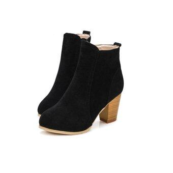Harga Autumn Winter Boots With High Heels Boots Shoes Martin Boots WomenAnkle - intl