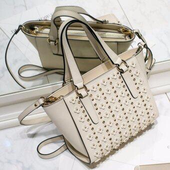 AXIXI กระเป๋าถือแฟชั่น รุ่น Bloom Bloom สีครีม - 3