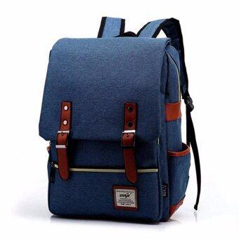 สนใจซื้อ กระเป๋าสะพายหลัง สไตล์เกาหลี กระเป๋าเป้เดินทาง กระเป๋าโน๊ตบุ๊ค กระเป๋าเป้เท่ๆ กระเป๋านักเรียน Backpackรุ่น BP-01 - สีดำ