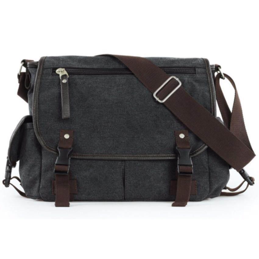 Bag Concept กระเป๋าสะพายข้าง ผ้าแคนวาส  รุ่น M148 สีดำ
