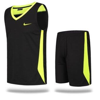 Harga Basketball Suit Suit Men Basketball Training Competition UniformsAdult Basketball Vest Black Mamba - intl