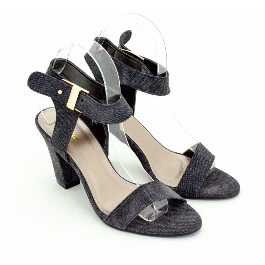 BATA รองเท้าแฟชั่นผู้หญิงส้นสูงแบบรัดส้น LADIES'HEELS HEELS สีดำ รหัส 7616260