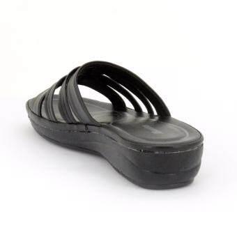 BATA รองเท้าผู้หญิงแตะลำลองแบบสวม เปิดส้น LADIES'SUMMER SANDAL สีดำรหัส 6616676 - 5