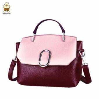Beibaobao กระเป๋าสะพายข้างสีแดงอมม่วง - Beibaobao0727