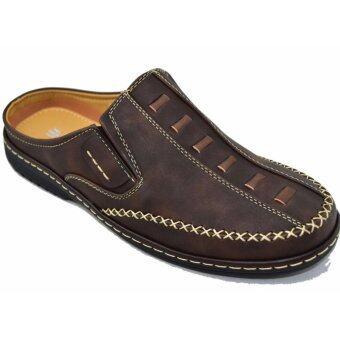 BINSIN รองเท้าหนังแบบสวมชายBINSIN รุ่น M5347 (ฺBrown)