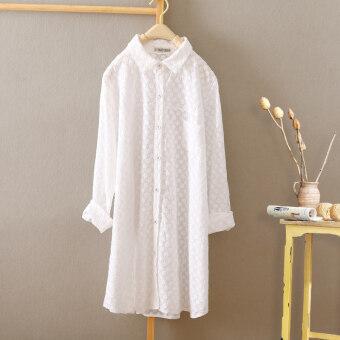 หลวมเกาหลีผ้าฝ้ายหญิงแขนยาวเสื้อ bottoming เสื้อเชิ้ตสีขาว (สไตล์ 12) (สไตล์ 12)