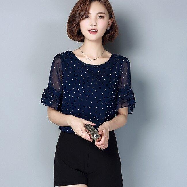 หลวมเกาหลีใหม่หลาใหญ่แขนสั้นเสื้อ bottoming เสื้อขนาดเล็ก (สีชมพู) (สีชมพู)