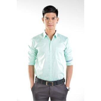 BOYD Shirt เสื้อเชิ้ตผู้ชาย ผ้าคอตตอน S-022 สีเขียวมิ้นท์
