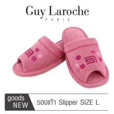 รองเท้าสวมใส่ในบ้านและสำนักงาน by GUY LAROCHE ( Size L ) สีชมพู