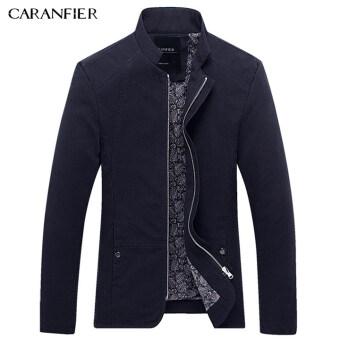 BYL caranfier ARRIVAL Elite Mens แจ็คเก็ต outerwear Slim โคตส์ (BLUE)