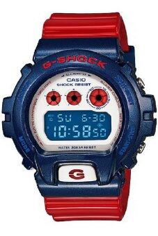 ซื้อ/ขาย Casio G-SHOCK นาฬิกาข้อมือใส่ได้ทั้งผู้ชาย ผู้หญิง สายเรซิน สีแดง-น้ำเงิน-ขาว รุ่น DW-6900AC-2DR