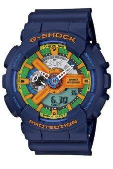 Casio G-Shock นาฬิกาข้อมือผู้ชาย สีน้ำเงิน สายเรซิ่น รุ่น GA-110FC-2ADR