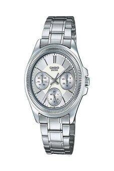 Casio Standard นาฬิกาข้อมือสุภาพสตรี สายสแตนเลส รุ่นLTP-2088D-7AVDF - สีขาว