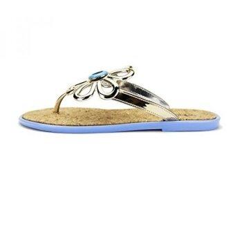 Chemistry® FLO-3 Womens Shoes Flip Flops Slip-on Flat Sandals Slipper US Blue) - intl