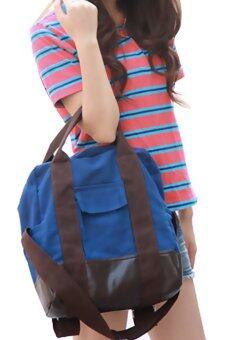 เปรียบเทียบราคา Chic Bag กระเป๋าสะพายผ้าใบ Big Canvas Bag ( Blue )