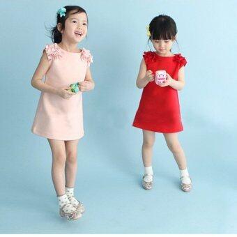 Children's summer dress fashion clothing explosion Princess Dresscute Korean girls skirt-pink - intl - 3