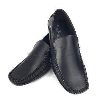 Chinatown Leather รองเท้าหนังวัวแท้สีดำ