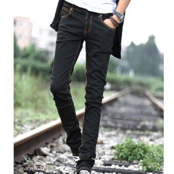 Clothes กางเกงยีนส์ขายาวผู้ชาย (สีดำ) รุ่น4010