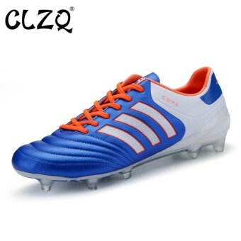 CLZQ Grass Training Men Football Shoes Breathable Outdoor Sports Shoes(Blue) - intl