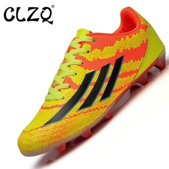 CLZQ Men 's Outdoor Sports Football Shoes Professional Competition Training Sneakers Size33-45 Orange - intl