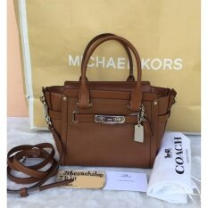 Coach 37444 Swagger 21 carryall in leather saddle