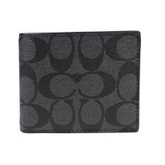 COACH 74993 COMPACT ID WALLET IN SIGNATURE Black