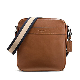 COACH กระเป๋า CHARLES FLIGHT BAG IN SMOOTH LEATHER F54782 (DARK SADDLE)
