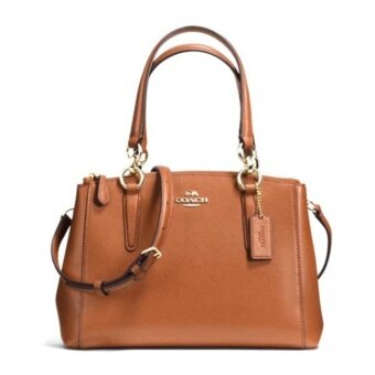 COACH CHRISTIE CARRYALL IN CROSSGRAIN LEATHER รุ่น 36704 - Saddle