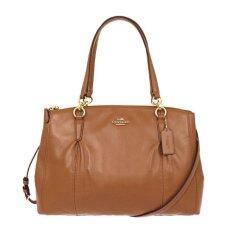 COACH Christie Smooth Leather Shoulder Bag รุ่น 36680 - Saddle