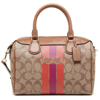 COACH F38401 COACH VARSITY STRIPE MINI BENNETT SATCHEL IN SIGNATURE