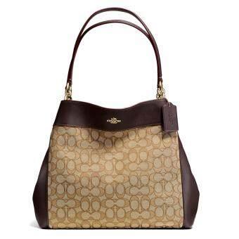 กระเป๋า COACH F57612 LEXY SHOULDER BAG IN OUTLINE SIGNATURE (IMC7C)