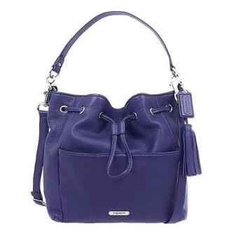 Coach Leather Crossbody Shoulder Duffle Drawstring Handbag รุ่น 27003 - Indigo
