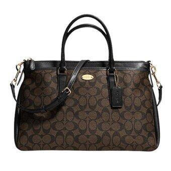 Coach Signature Satchel Handbag รุ่น 34617 - Brown