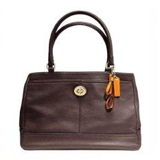 Coach Park Leather Carryall 23280 Mahogany