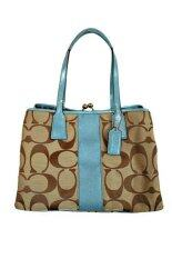 Coach Signature Stripe Carryall Tote F13533 (Blue)