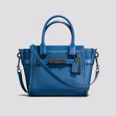 COACH Swagger 21 In Pebble Leather - Lapis