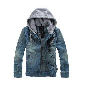 Collar Modern Winter Casual Denim Hooded Short Jacket - intl