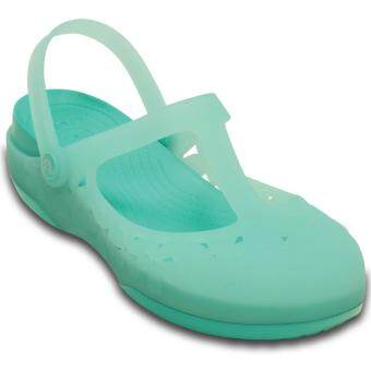 CROCS-Carlie MJ Flower W-Sea Foam/Island Green