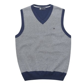 CStore Spring And Autumn Casual Mens Cotton Sweater V-NeckvestSleeveless Solid Color Sweater Men - intl