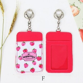 Cute Fruit Double-Layer Card Note Holder Bus Business Credit Cover Case Wallet - intl