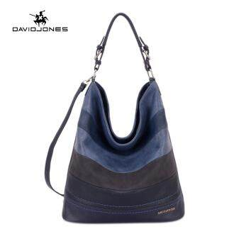 DAVIDJONES serpentine TOTE Shoulder Bags (BLUE)