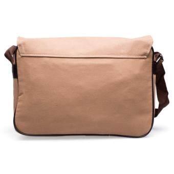 DMกระเป๋าสะพายข้างSQ Canvas KCAJ (สีเบจ)