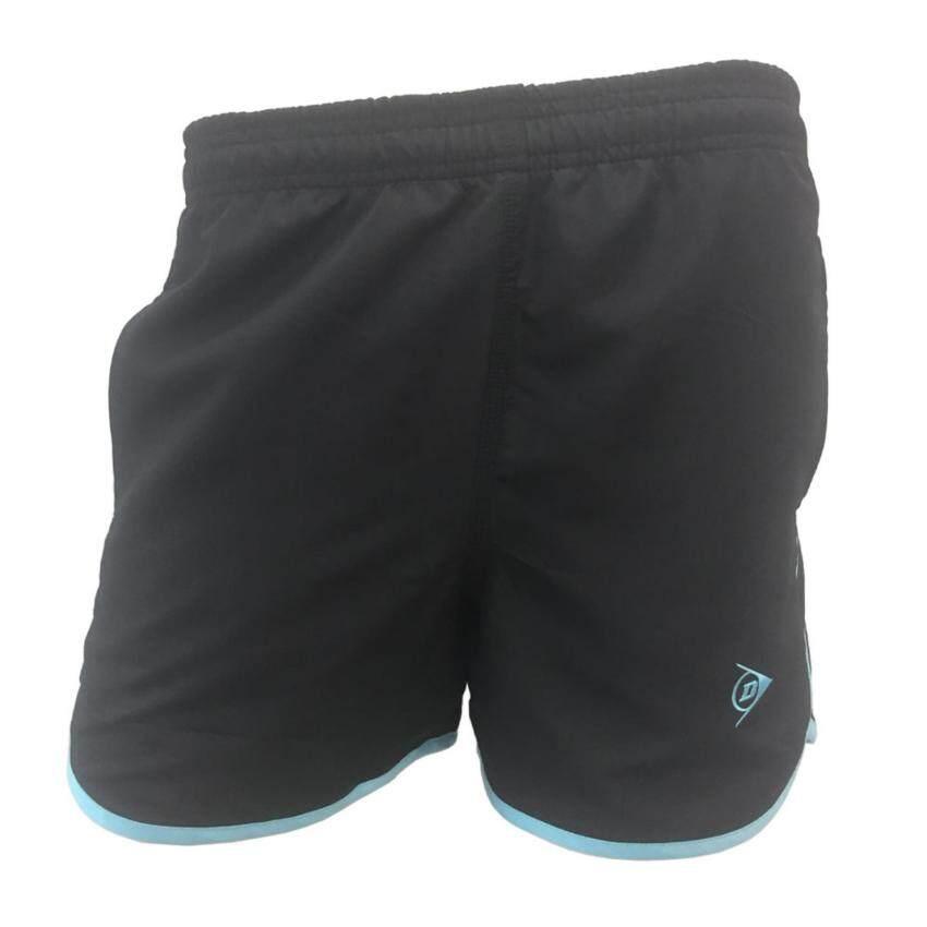 DUNLOP กางเกงเทนนิส DUNLOP LADIES SHORTS BLACK/BLUE DAP16SW02A S