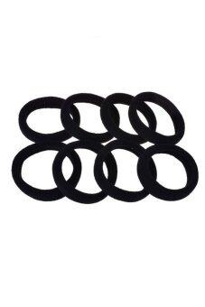 Fancyqube Hot New Fashion 10pcs Elastic Rope Ring Women Hair BandPonytail Holder Black