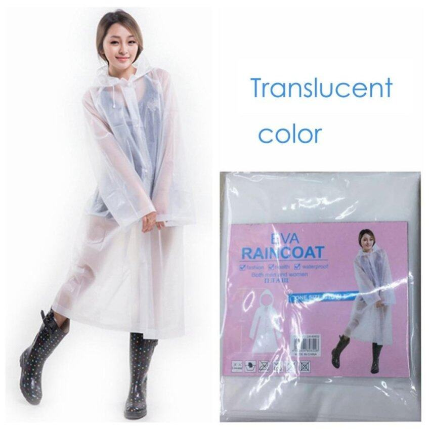 Fangfang Hrph Fashion Women EVA Transparent Raincoat Poncho Portable Environmental Light Raincoat Long Use Rain Coat -Neutral - intl