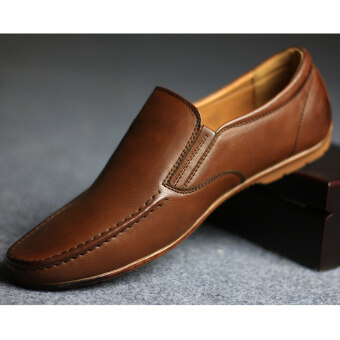 Fashion And Business Men's Loafers Shoes (Brown) - intl