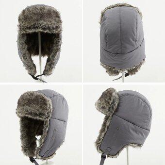Fashion Men's Brown Aviator Bomber Faux Fur Winter Ski TrooperTrapper Ear Flap Hat Cap - intl - 2